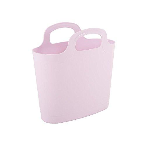 Wham 29801 Flexi-Tasche Tragetasche, Einkaufstasche aus Kunststoff, 6 Liter - pastel pink
