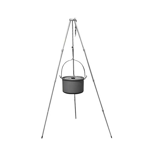 CFF Dreibein Grill Set Tragbar CampingzubehöR 39-Zoll-HöHe Dutch Oven Dreibein Mit Aufbewahrungstasche