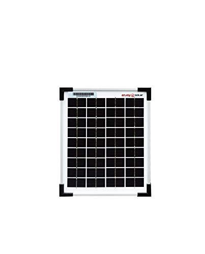 enjoysolar® - Pannello solare da 12 V, monocristallino, Mono 5W