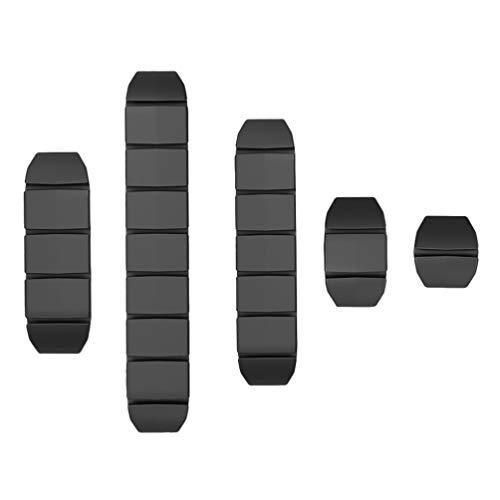 UKCOCO Clips para Cables Organizadores de Cables de Cables Enrolladores de Cables de Silicona Organizadores de líneas de Datos Soportes de Cables USB para el hogar y la Oficina 5PCS ()