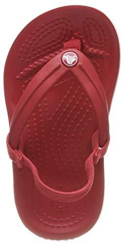 Crocs Unisex-Kinder Crocband Strap Flip Zehentrenner, Rot (Pepper 6en), 24/25 EU