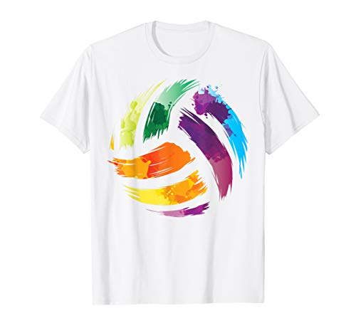 VOLLEYBALL T-Shirt | Motiv Colorsplash-T-Shirt