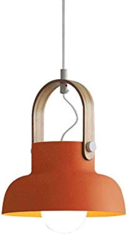Xiao Fan  Nordeuropa Persnlichkeit Ideen Einstellbare Eisenkunst Kronleuchter Moderne und einfache Schlafzimmer Nachttischlampe Deckenleuchte Thema Holz Ring Pendelleuchte (Design  12)