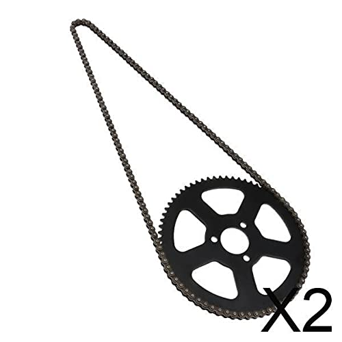 B Blesiya 2x25H 68T 68 Zahnrad Hinten + Kette für 49ccm 2 Takt Mini Pocket Bike