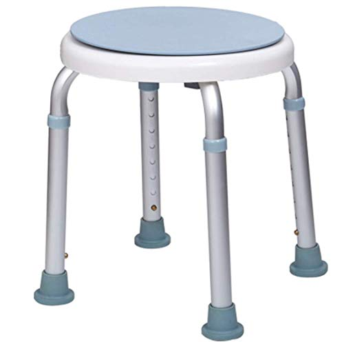 Witte douchestoel, verstelbare badstoel, anti-slip aluminium werkbank, veilig en stabiel
