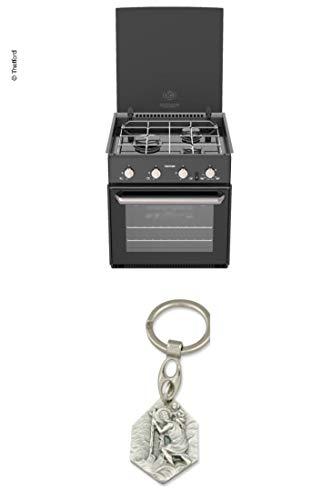 Zisa-Kombi Kocher, Backofen und Grill 'Triplex' - 36 Liter Volumen (93298870306) mit Anhänger Hlg. Christophorus