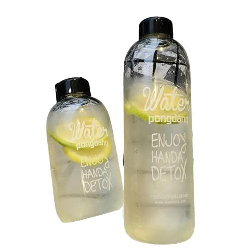 600/1000 ml portátil BPA deporte agua beber botella camping ciclismo viaje fruta limón zumo exquisito botella grande perfumada