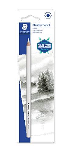 STAEDTLER 5426BLBK-C Blender pencil (farbloser holzgefasster Stift auf Wachsbasis, zum Verwischen und Absoften von Linien, Blisterkarte mit einem Blender)