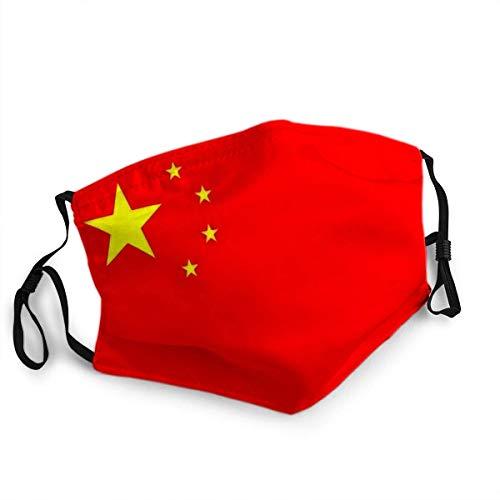 Wiederverwendbarer Gesichtsschutz Mundschutz China Flagge in Offiziellen Farben