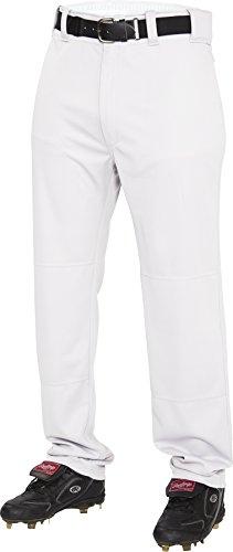 Rawlings Men's Semi-Relaxed Pants, Large, White