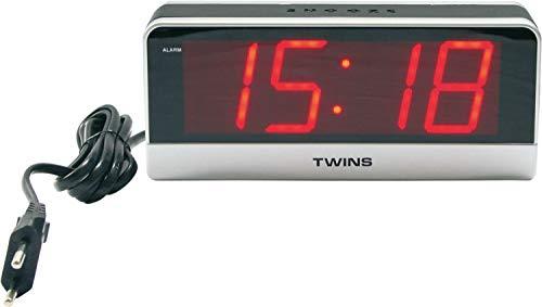 Zeit-Bar Wecker mit großer, roter LED-Anzeige, LAUTLOS
