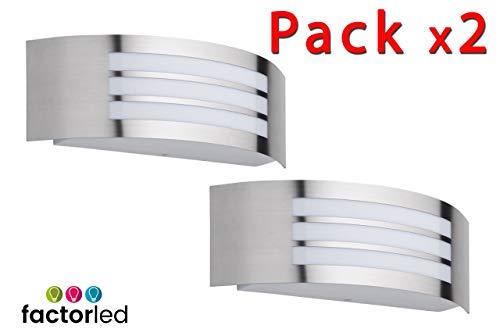 FactorLED wandlamp, 12 W, buitenverlichting, IP44, aangename verlichting voor huis, balkon, tuin, veranda, paden, binnenplaats, natuurlijk licht 4000 K [energie-efficiëntieklasse A ]