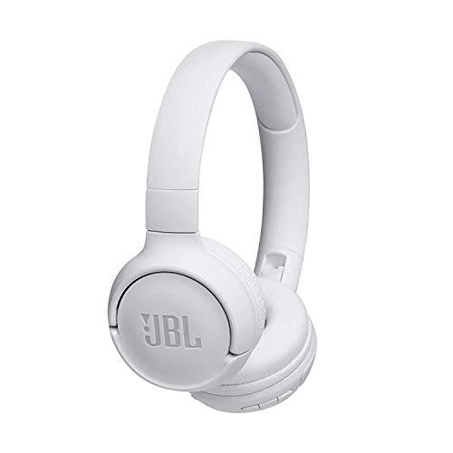 JBL Tune500BT – Auriculares supraaurales inalámbricos con conexiones multipunto y asistente de voz Google now o Siri – Batería de 16h – Blanco