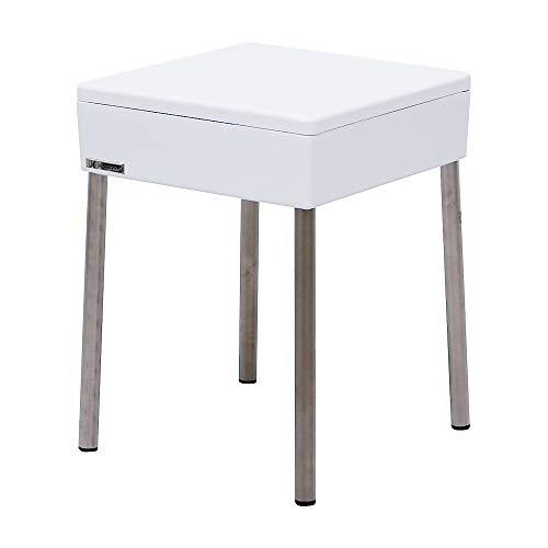 Jo-Bagno.it Sgabello Bagno Contenitore Bianco Moderno 31x31xh41 cm Ideale Come Seduta e Portaoggetti