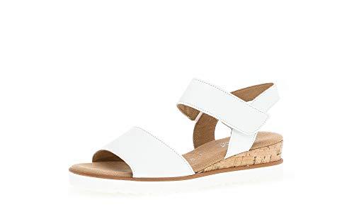 Gabor Sandalias de cuña para mujer, tallas moderadas, color Blanco, talla 35 EU