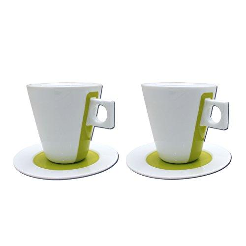 Nescafé Dolce Gusto Cappuccino Tasse, Porzellan, 2er Set / 4-tlg., Kaffee, Grün, 245 ml