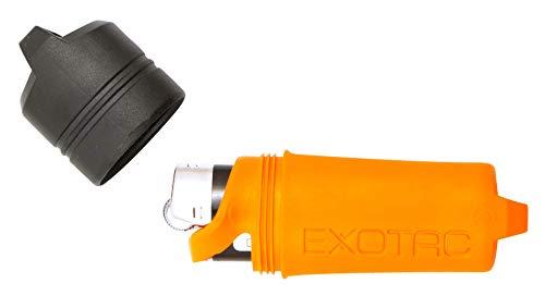 Exotac- fireSLEEVE Waterproof Lighter Holder Case No Lighter Included (Orange)