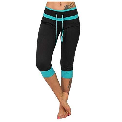 Vectry Damen Sport Leggings Capri Hose High Waist Yoga Shorts 3/4 Lang Jogginghose Sweatpants Workout Fitness Sportshorts Laufshorts Yogahosen Unterhosen Strumpfhose Schwarz 3XL