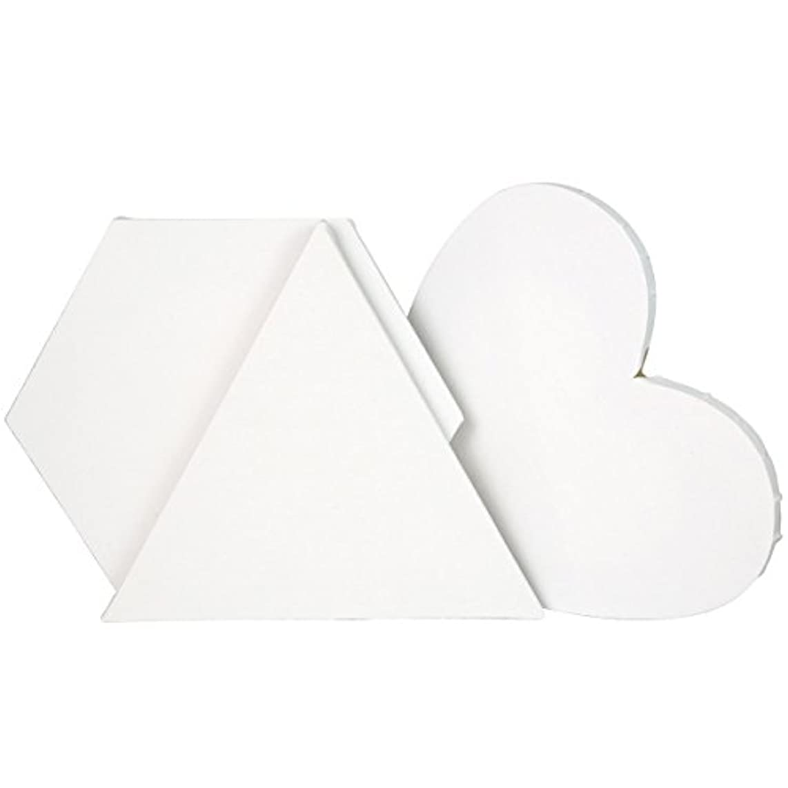 """Transon Artist Primed Stretched Canvas Triangle Hexagon Heart 3 Special Shapes Value Pack Size 12"""""""