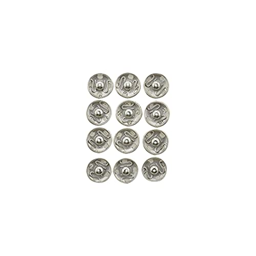 Clest F&H Silver White 15 mm Botones de cierre a presión para coser Botón de presión para coser ropa