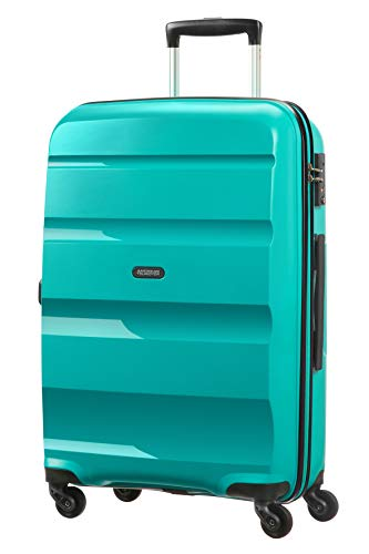 American Tourister Bon Air Spinner M Koffer, 66 cm, 57.5 L, Türkis (Deep Turquoise)
