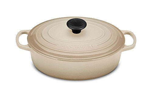 Le Creuset of America Signature Enameled Cast Iron Oval Wide Dutch Oven, 3.5-Quart, Dune