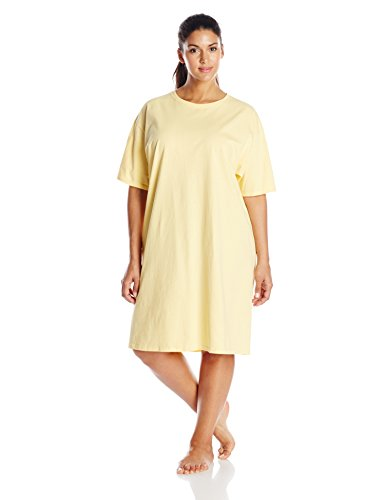 Hanes Women's Wear Around Nightshirt, Daffodil Yellow, One Size