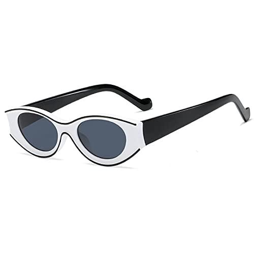 Gafas de Sol Sunglasses Gafas De Sol De Ojo De Gato Ovaladas Únicas A La Moda Diseño De Mujer Montura Gruesa Gafas De Sol Verdes Negras Hombres Retro Hip Hop Sombras 90S