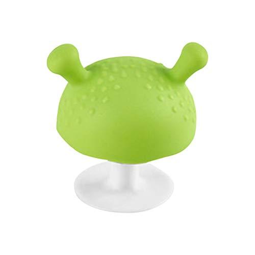 Vokmon 2pcs Mushroom Diseño Chupete de bebé Chupete mordedor Mordedor de Silicona Setas Juguete de la dentición Durante 3 Meses y por Encima de bebé
