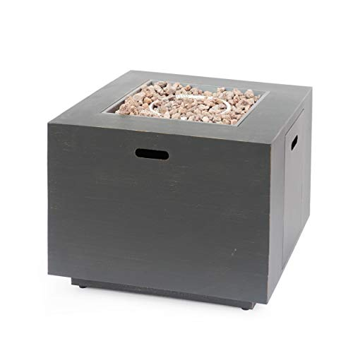 Christopher Knight Home 312977 Solomon Outdoor 33-Inch Square Fire Pit, Brushed Brown