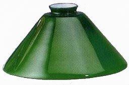 Vetro di Ricambio per lampada ministeriale ottone Verde Churchill Banchiere 25 cm
