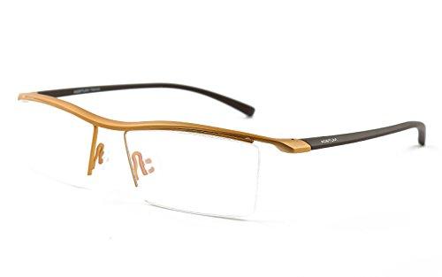Agstum Mens Pure Titanium Semi-rimless Eyeglasses Business Optical Glasses...