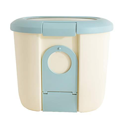 ZWW plastic doos voor hondenvoer, luchtdichte voorraaddoos voor huisdiervoer incl. schaal vochtbestendige voederemmer 5kg