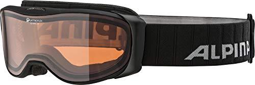 ALPINA BONFIRE 2.0 QH Skibrille, Unisex– Erwachsene, black matt, one size