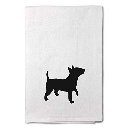 Style In Print Custom Decor Flour Kitchen Towels Bull Terrier (Miniature) Silhouette Pets Dogs Cleaning Supplies Dish Towels Design Only
