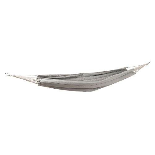 Ampel 24 XXL Outdoor Hängematte Rimini grau, dick gepolsterte Doppelhängematte, Stoff atmungsaktiv, Liegefläche ca. 145 cm breit ohne Querholz
