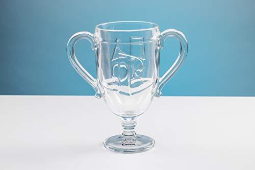 Paladone PP4827PS Shaped Glass Trophy Glas in Form eines Wasserglass, ideal für Gamer und Sammler von Playstation Memorabilia, 450 milliliters, durchsichtig