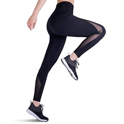 Trideer mesh Yoga Leggings Test 1 (Large, Black)