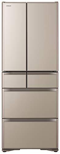 日立 冷蔵庫 475L 6ドア 強化ガラスドア 観音開き 日本製 幅68.5cm 真空チルド R-XG48K XN プレーンシャンパン