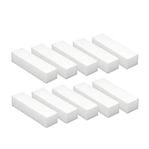 10 piezas limas uñas cuadradas color blanco manicura