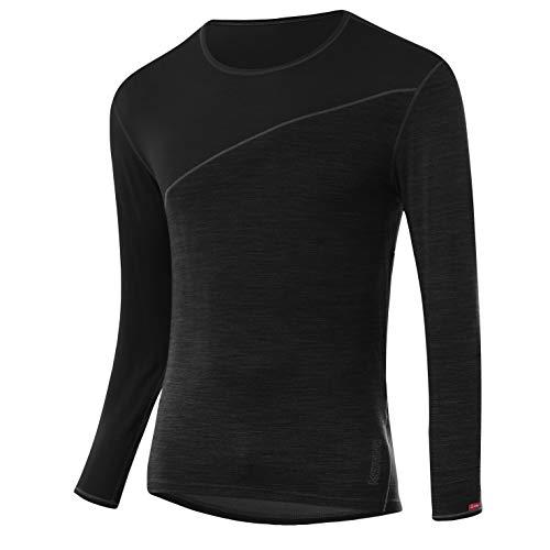 LÖFFLER Herren M Shirt L/S TRANSTEX Merino Unterhemd, Black, 54