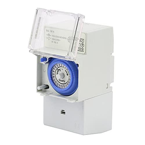 Interruptor Mecánico, Temporizador Temporizador De 24 Horas Práctico Para Luces Navideñas Para Lámparas Para Ventilador De Baño