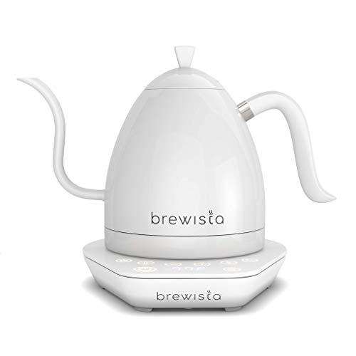 Brewista Artisan Pure White | Bollitore elettrico | Becco d'oca | Controllo della temperatura | Barista caffè lento | 1,0 L