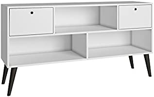 BRV Móveis TV Stand Two Drawers, White, 135 cm x 69.5 cm x 35 cm, BPP 31-129