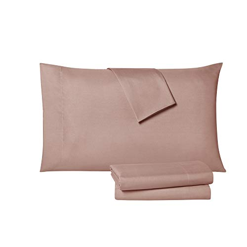 Tahari Home Modern Collection Premium Ultra Soft Lightweight Solid Sheet 6 Piece Set, Wrinkle, Stain Resistant & Hypoallergenic, King, Rose