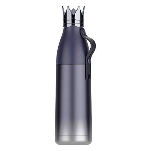 Demino Edelstahl Wärmedämm-Cup Temperatur Farbwechsel Wasserflasche Isolierung Tassen Edelstahl-Thermoflasche Sport Sport Vacuum Cup Kettle