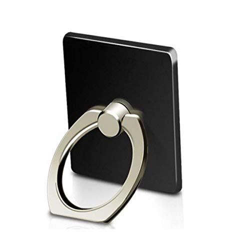 MuStone Soporte de timbre para teléfono, Rotación de 360 ° Teléfono celular Soporte de anillo para dedo para iphone XS X 8 7 6S 6 5S 5C 5, Samsung Galaxy S9 S8Edge S7 S6 Nota 8 5 (Negro)
