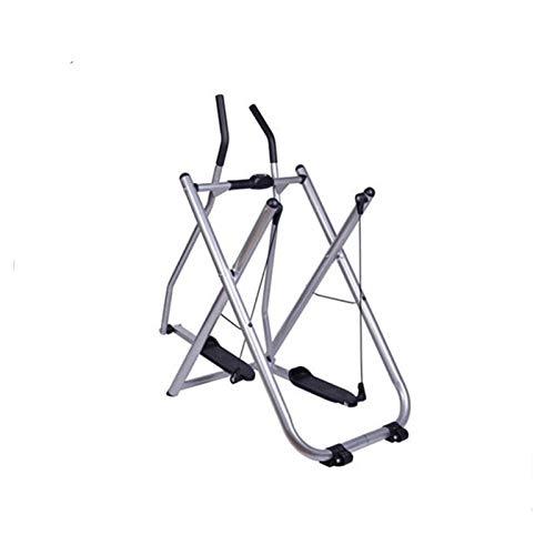 PPLAS Inicio Gym Máquina de Ejercicios Ellíptica Pipa Plegable Air Walker Steppers Handrail Slimming Entrenador Entrenador Fitness Equipos (Color : Sliver)
