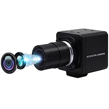 8MP Varifocal Webcam 10X Optical Zoom Camera,5-50mm Vari-focus Webcameras with SONY IMX179 Image Sensor,High Speed Video Conference Zoom Webcam,Plug&Play Usb Web Cameras for Windows/Linux/Raspberry Pi