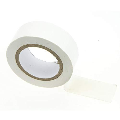 PVC Electrical Draht Insulation/Insulating Tape 19 mm x 8 m Weiß [8 Meter/19mm x 8m]